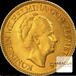 10 Florins Or - 10 Gulden Or Wilhelmine Agée