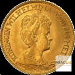 10 Florins Or - 10 Gulden Or Wilhelmine Diadème