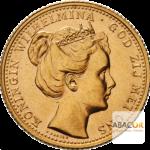 10 Florins Or - 10 Gulden Or Wilhelmine Jeune Diadème