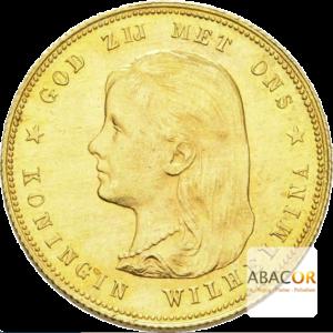 10 Florins Or - 10 Gulden Or Wilhelmine Jeune