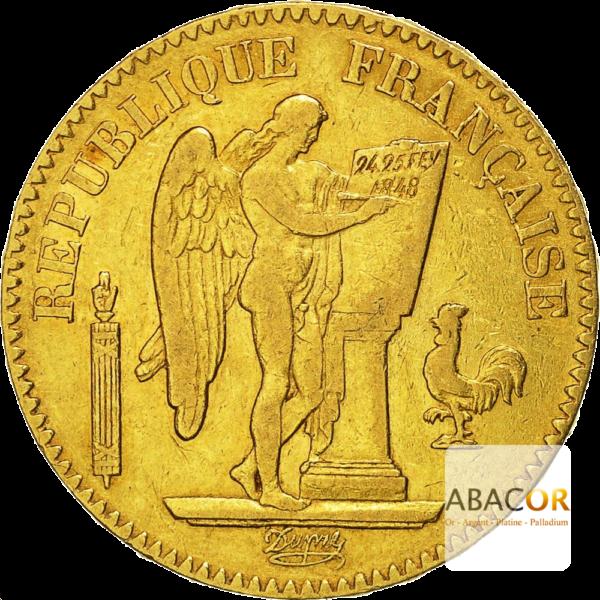 20 Francs Or Génie IIème République