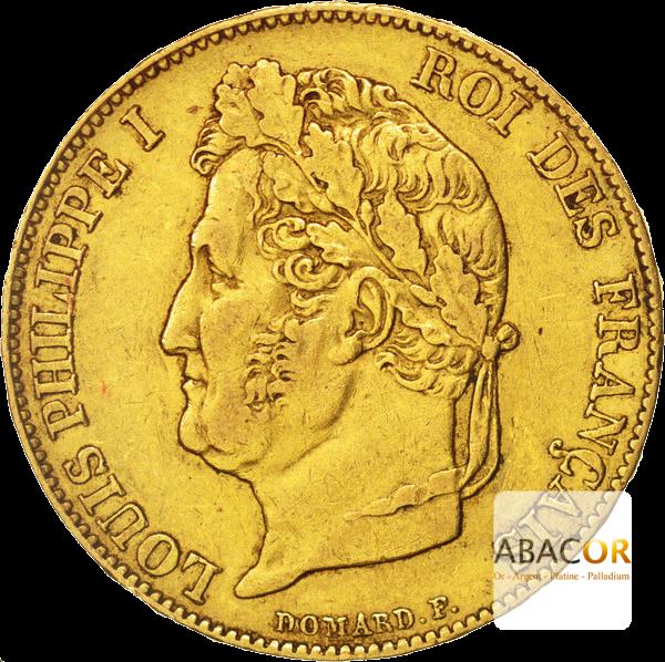 20 Francs Or Louis-Philippe Ier Tête Laurée
