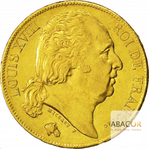 20 Francs Or Louis XVIII Buste Nu
