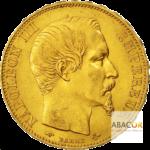 20 Francs pièces d'or Napoléon III Tête Nue