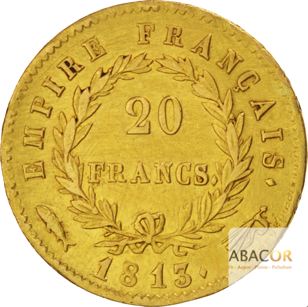 20 Francs Or Napoléon Ier Tête Laurée (Revers Empire)