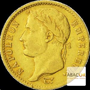 20 Francs Or Napoléon 1er Tête Laurée (Revers République Française)