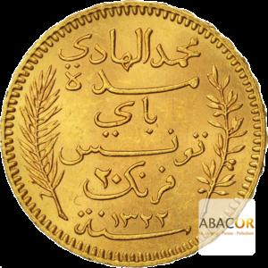 20 Francs Tunisie Or