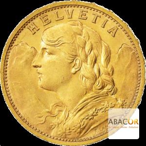 Achat Pièce Or 20 Francs Suisse Or Helvetica