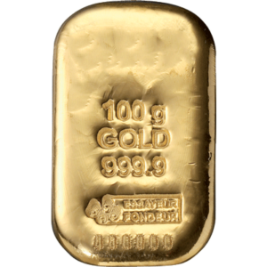 Lingot d'Or de 100 Grammes