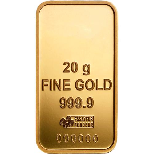 Lingotin d'Or de 20 grammes