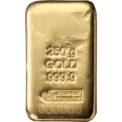 Lingotin d'Or de 250 grammes