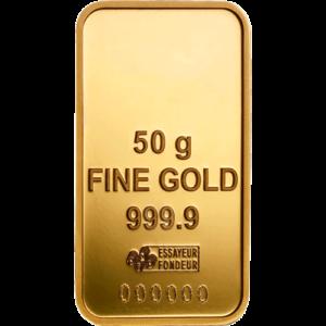 Lingot d'Or de 50 grammes