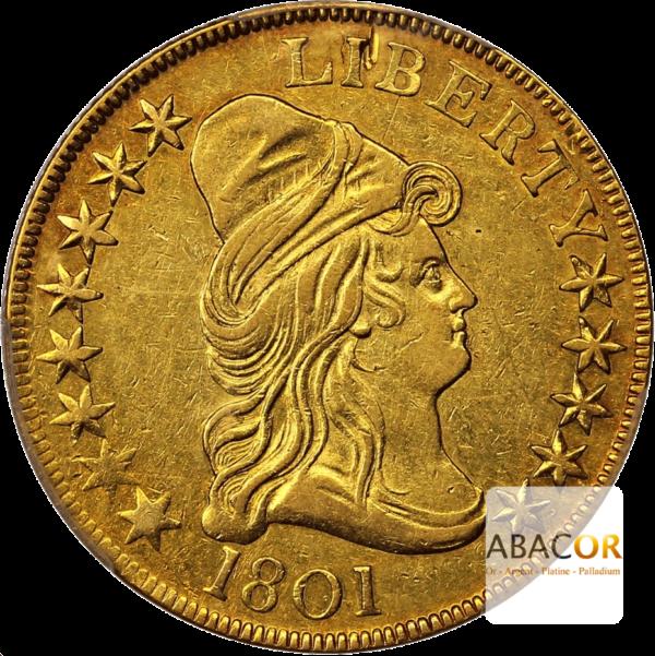 10 Dollars Or Liberty 1797 à 1804 Buste Coiffé à Droite Aigle Héraldique