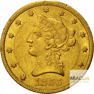 10 Dollars Or Liberty (1838-1866)