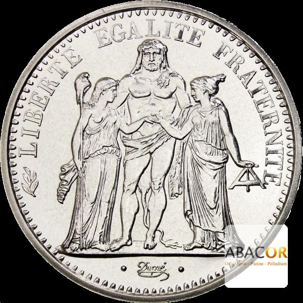 Pièce de 10 Francs Hercule en Argent Avers