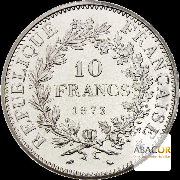 Pièce de 10 Francs Hercule en Argent Revers