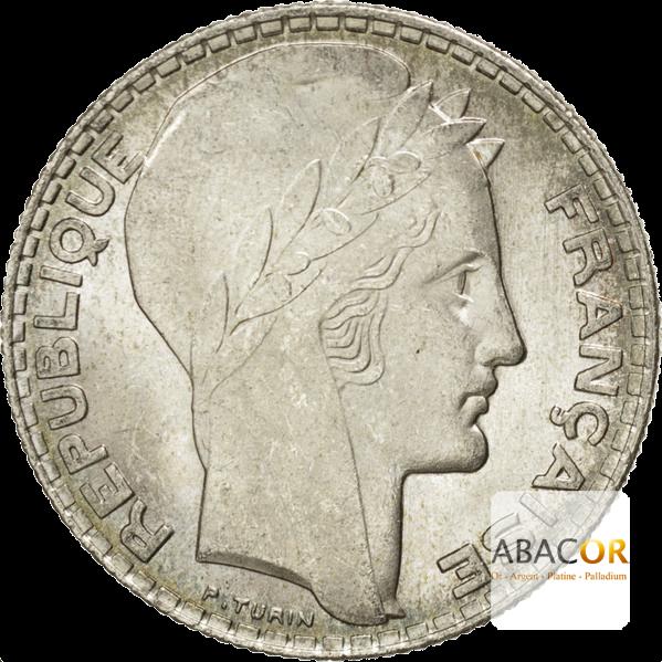 Pièce de 10 Francs Turin en Argent Avers