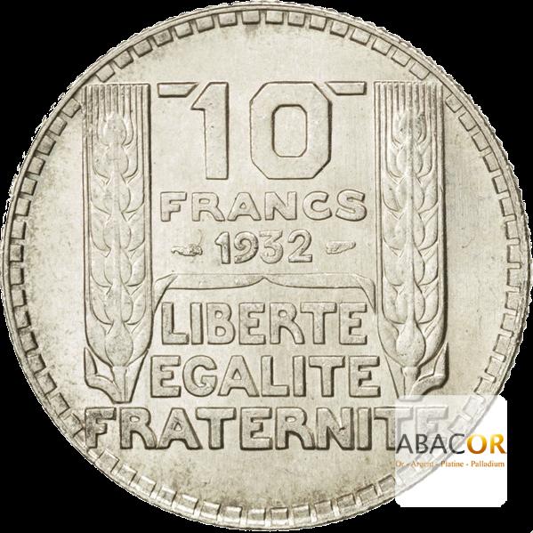 Pièce de 10 Francs Turin en Argent Revers