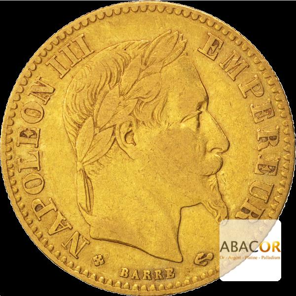 10 Francs Or Napoléon III Tête Laurée