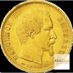 10 Francs Or Napoléon III Tête Nue