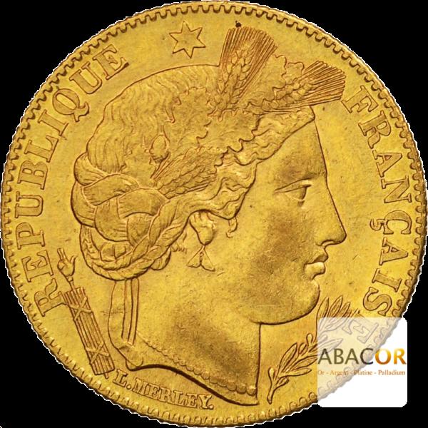 10 Francs Or Cérès IIIème République