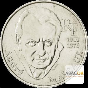 100 Francs Argent André Malraux