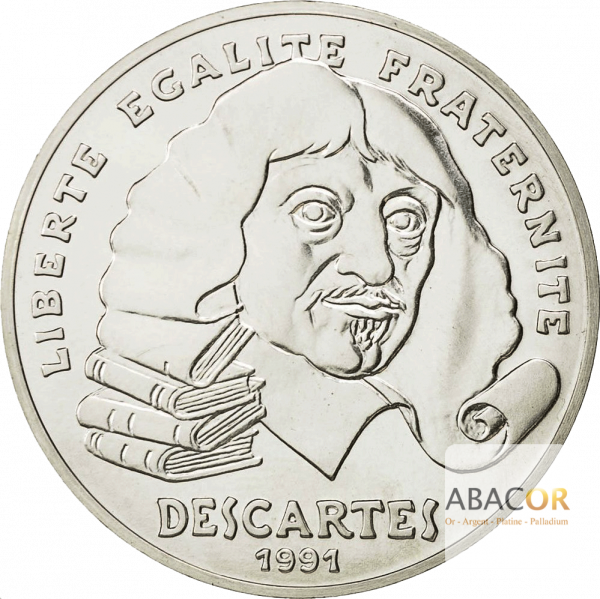 100 Francs Argent Descartes