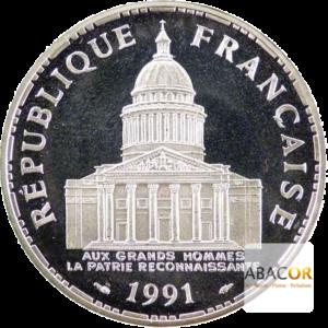 100 Francs Argent Panthéon Belle Epreuve