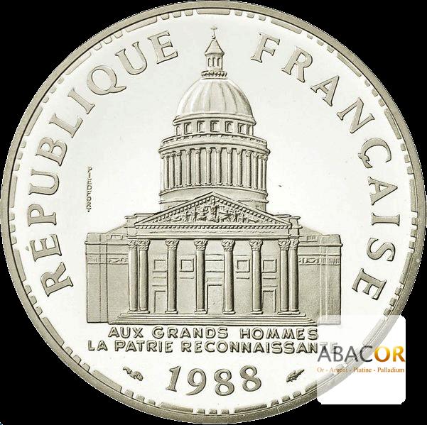 Pièce de 100 Francs en Argent Avers
