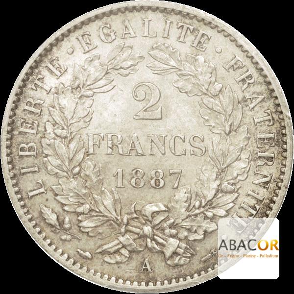 2 Francs Argent Cérès Avec Légende