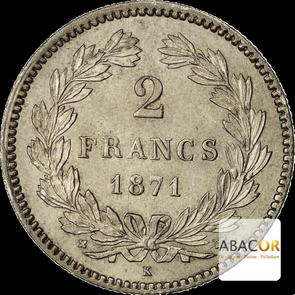 2 Francs Argent Cérès Sans Légende