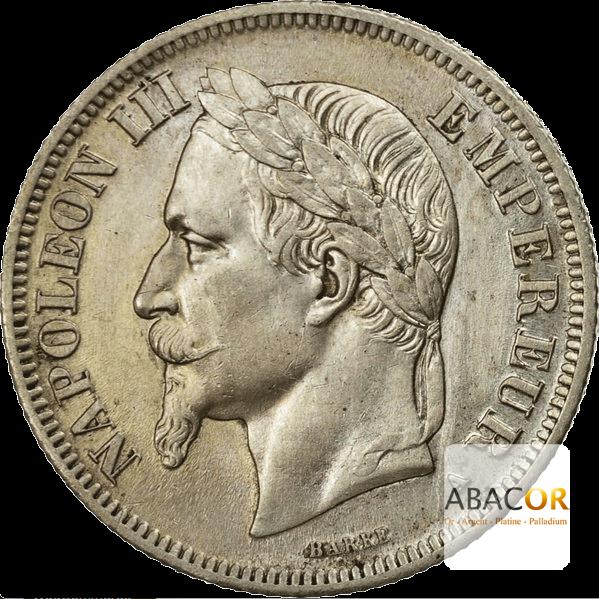 2 Francs Argent Napoléon III Tête Laurée