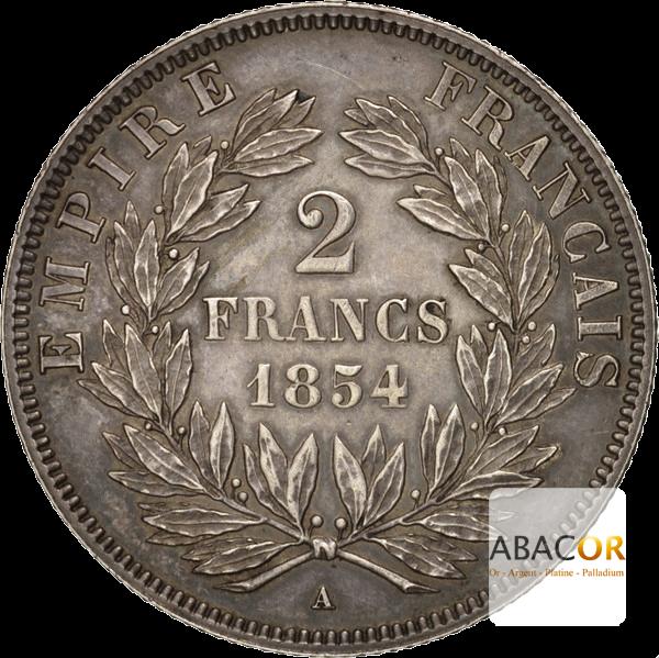 2 Francs Argent Napoléon III Tête Nue