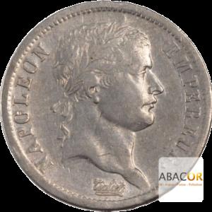 2 Francs Argent Napoléon Ier Lauré Revers Empire