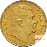 20 Dinars OrMilan Obrenovitch IV Union Latine Serbie Avers