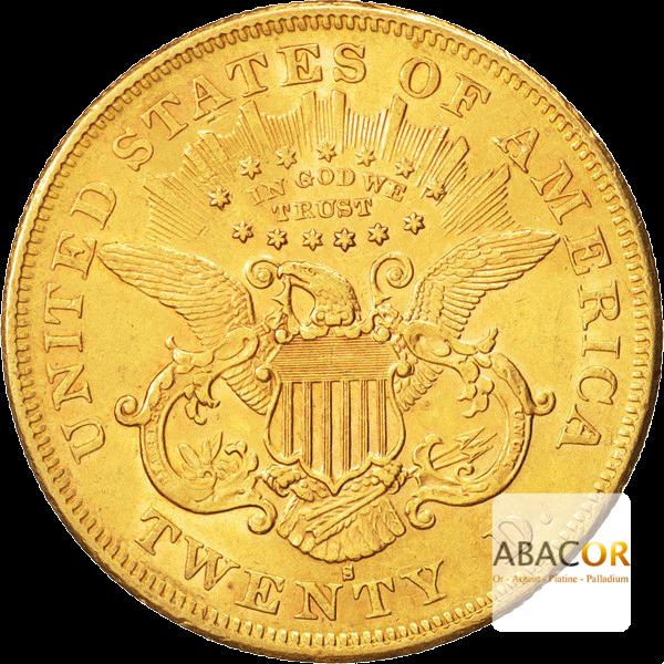 20 Dollars Or (1866-1876) Liberty In God We Trust Twenty D