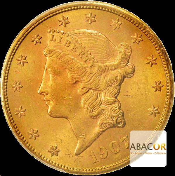 20 Dollars Or (1877-1907) Liberty In God We Trust Twenty Dollars