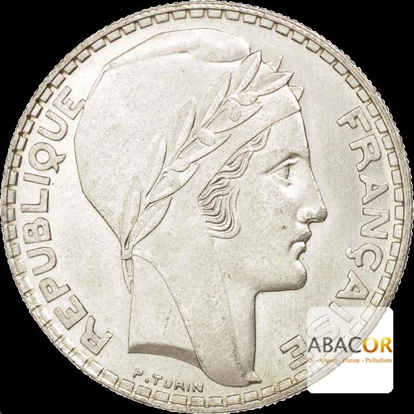 Pièce de 20 Francs Turin en Argent Avers