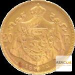 20 Francs Or Belge Albert I Union Latine Revers