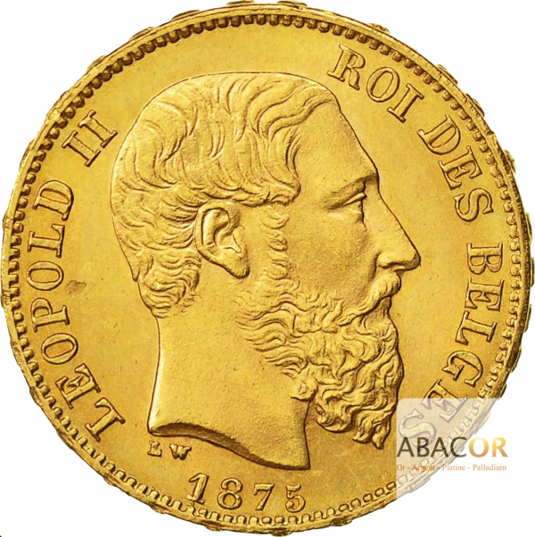 20 Francs Or Belge Leopold II - Union Latine Belgique