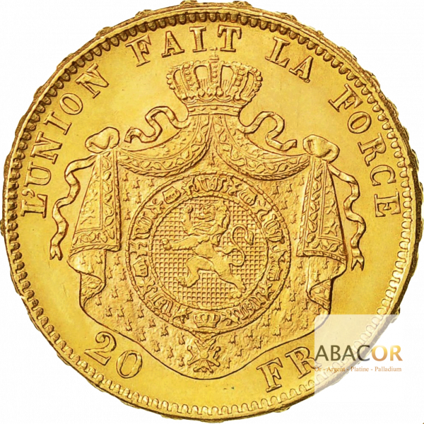 20 Francs Or Belge Leopold II - Union Latine Belgique