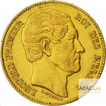 20 Francs Or Belge Leopold Ier Union Latine Avers