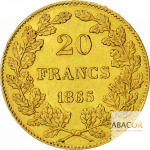 20 Francs Or Belge Leopold Ier Union Latine Revers