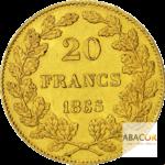 20 Francs Or Belge Leopold Ier Union Latine Revers