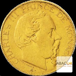 20 Francs Or Charles III de Monaco 1878 & 1878
