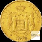 20 Francs Or Charles III de Monaco 1878 & 1879 Union Latine Revers