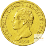 20 Lires Or Charles Félix - Union Latine Or - avers