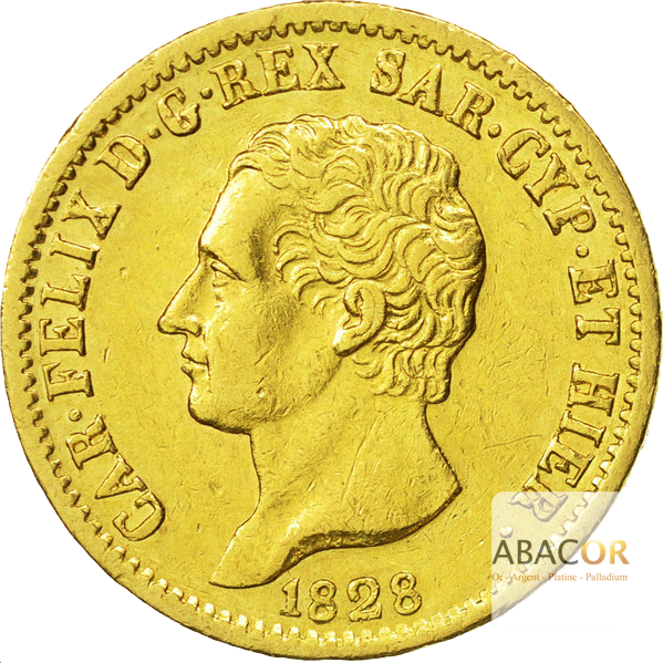 20 Lires Or Charles Félix