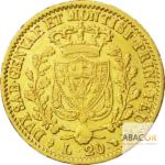 20 Lires Or Charles Félix - Union Latine Or - revers