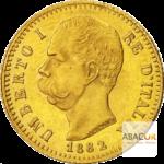20 Lires Or Humbert Ier (Umberto I) Union Latine Avers